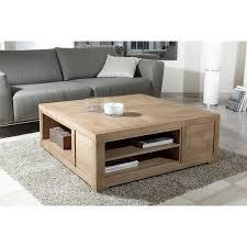 table basse carrée avec niches de rangement meubles macabane