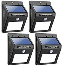 URPOWER Solar Lights 8 LED Wireless Waterproof Motion Sensor