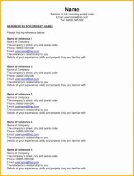 100 Resume Reference Page 012 Template Ideas Personal S Job Example For