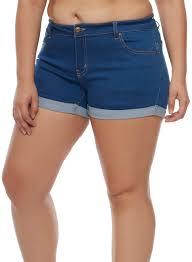 plus size shorts for women rainbow