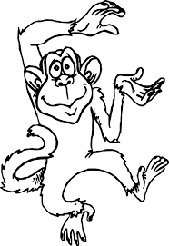 Cute Monkey Cartoons Coloring Page