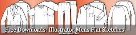 Illustrator Fashion Templates Free Mens Flat Sketches