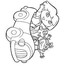 Dora Coloring Pages Pdf Games Explorer And Friends Dora Coloring