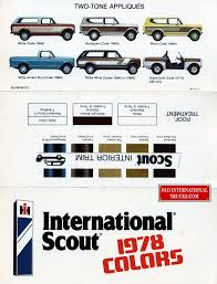 1978 Scout Colors. Color Charts • Old International Truck Parts ...