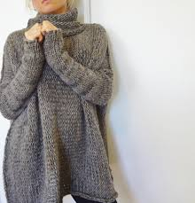 oversized chunky knit sweater slouchy bulky loose sweater