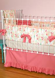 Love Pink Bedding by Reminisce Herringbone Quilt Peach And Mint Lottie Da Baby