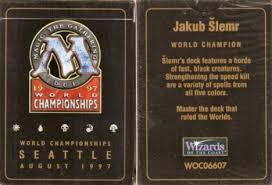 mtg world chionship decks 1997 mtg magic the gathering 1997 world chionship deck jakub