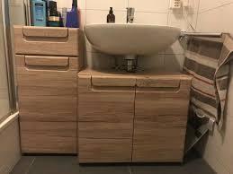sehr schönes badezimmer schrank set eiche echtholz
