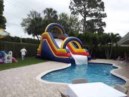 BIG DIPPER WATER SLIDE INTO THE POOL FOR RENT