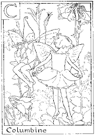 Coloring Sheets Fairy Pages