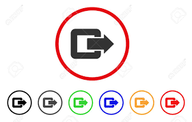 100 Exit C Door Icon Vector Illustration Style Is A Flat Iconic Exit