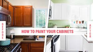 Painting Wood Kitchen Cabinets Ideas How To Paint Wood Kitchen Cabinets With White Paint Kitchn