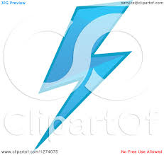 Blue Lightning Bolt Clipart 2103312