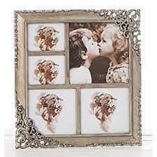 Vintage Style Ornate Rustic Metal Multi Photo Frame New Boxed