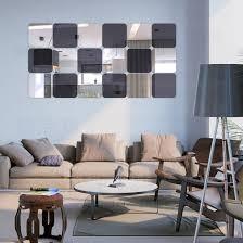 platz dekorative 3d acryl spiegel wandaufkleber wohnzimmer schlafzimmer badezimmer tür dekor raumdekoration spiegel fliesen r177