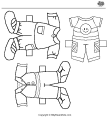 33 Dolls Coloring Pages Paper Doll And Clothes Colouring Page 2