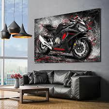 leinwand bild honda cbr 1000 rr abstrakt wand bilder motorrad kunstdruck canvas ebay