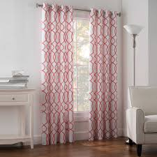 Geometric Pattern Grommet Curtains by Diy Drape To Shower Curtain Rochelle Interiors
