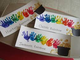 St Patricks Day Footprint Handprint Crafts For Kids