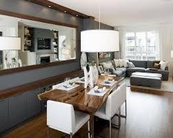dekovorschläge für wohnzimmr mit essplatz spiegel an der