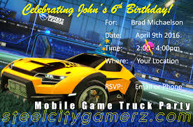 100 Video Game Truck Party Rocket League 2 Website Pittsburghs Best Mobile