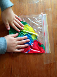 Zip Lock Bags And Paint Rainy Day Craft Idea Toddler No
