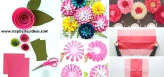 Wall Decoration Ideas With Paper Step By Flower Art