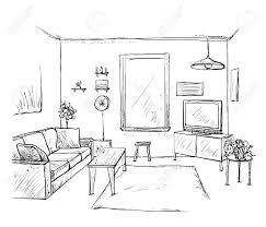 100 Drawing Room Furniture Images Hand Drawn Room Interior Sketch Sketch