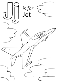 Click To See Printable Version Of Letter J Is For Jet Coloring Page