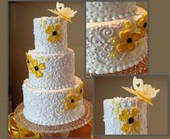 Cake Decoration Ideas With Gems by Simple Scroll Piping Method With Impressive Results