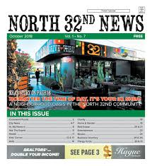 North 32nd News, October 2018 By North 32nd News - Issuu