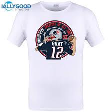iallygood new men t shirt 2017 tom brady goat 12 casual funny man