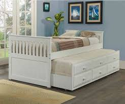 mission captains trundle bed white bedroom furniture beds