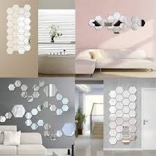 12 spiegel kunst diy home dekorative 3d sechseck acryl