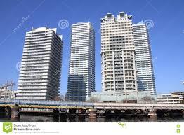 100 Apartments In Yokohama Highrise Condominium Portside Area Japan Stock Photo