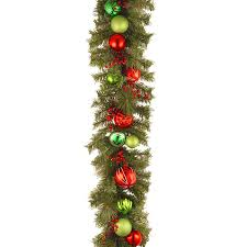 9 Ft Unlit Artificial Christmas Trees Vintage National Tree 6 Foot By 12 Inch Decorative Collection Garland With