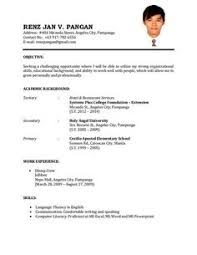 Example Resume Format Find This Pin And More On Sample Resumes