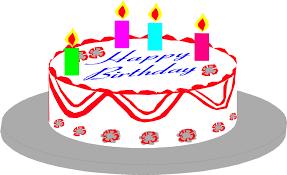 Illustration of a birthday cake Free Stock