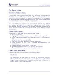 define cover letter Asafonec