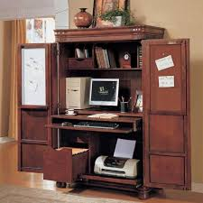Techni Mobili Computer Desk With Side Cabinet by Mobel Solid Oak Office Furniture Hideaway Computer Desk And Filing