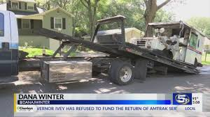 100 Postal Truck Fire Worker Saves Mail Moments Before Fire Destroys Truck In