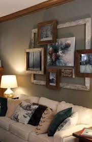 Rustic Hallway Gallery Wall In Living Room