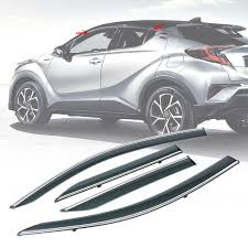 Car Window Visors Deflectors Rain Guard Shield Shade For Toyota C HR ... How To Install Rain Guards Inchannel And Stickon Weathertech Side Window Deflectors In Stock Avs Color Match Low Profile Oem Style Visors Cc Car Worx Visor For 20151617 Toyota Camry Wv Amazoncom Black Horse 140660 Smoke Guard 4 Pack Automotive Lund Intertional Products Ventvisors And 2014 Jeep Patriot Cars Sun Wind Deflector For Subaru Outback Tapeon Outsidemount Shades Front Door Best Of Where To Find Vent 2015 2016 2017 Set Of 4pcs 1418 Silverado Sierra Crew Cab Shade
