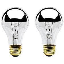 bulbrite 100a21hm half chrome 100w a shape bulb incandescent