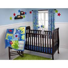 little bedding by nojo monster babies 3 piece crib bedding set