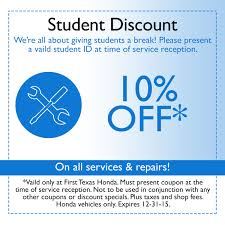 Honda Discount Coupons