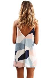 color block geometric print short dress u2013 inxcy