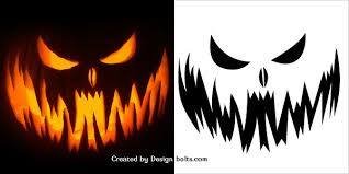 Easy Pumpkin Trace Patterns by 10 Free Scary Halloween Pumpkin Carving Patterns Stencils