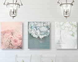 Shabby Chic Wall Art Decor SET Of THREE Prints Or Canvases