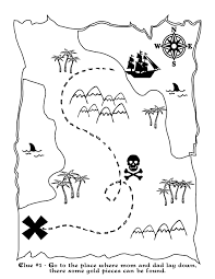 Halloween Treasure Hunt Clues Free by Printable Treasure Map Kids Activity
